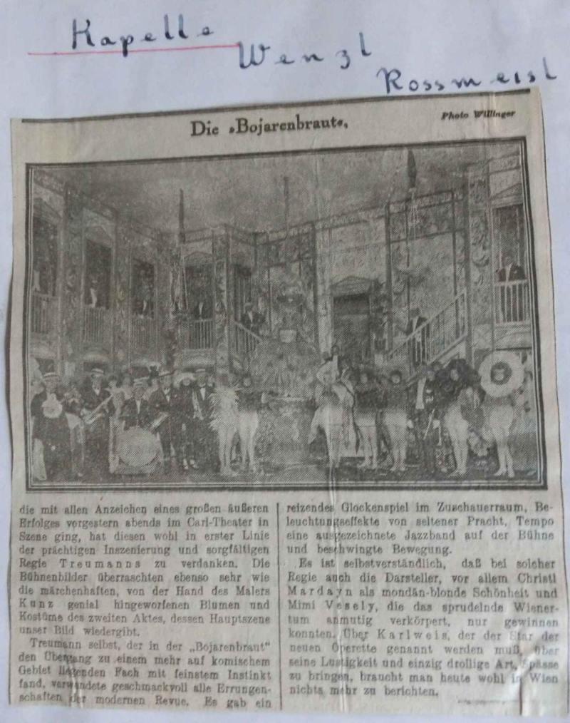 1925Die Bojarenbraut - Zeitungsbericht