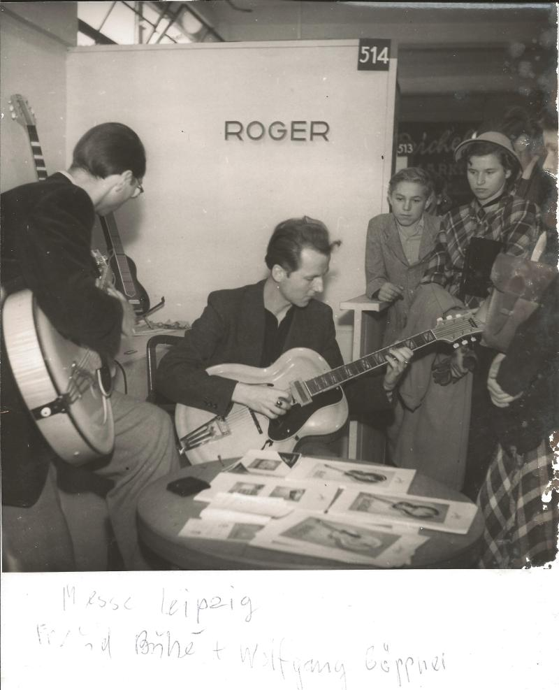 Mrz.50Messe Leipzig, Stand Nr. 514 - Thomas Buhe (links) und Wolfgang (Teddy) Göpner