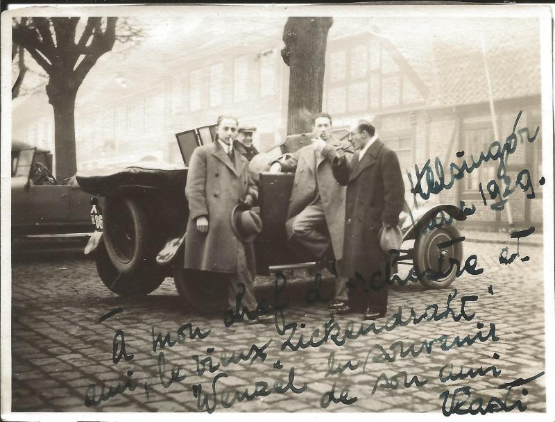 Bild 014 / 1929 / Freunde aus Helsinki mit Widmung