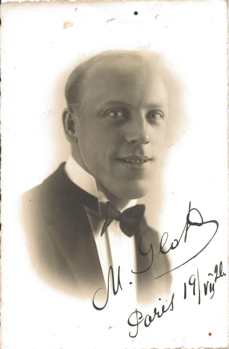 Bild 022 / ca. 1930 / Michel Glotz, Paris, Persönlichkeit aus dem goldenen Zeitalter der Schallplatte