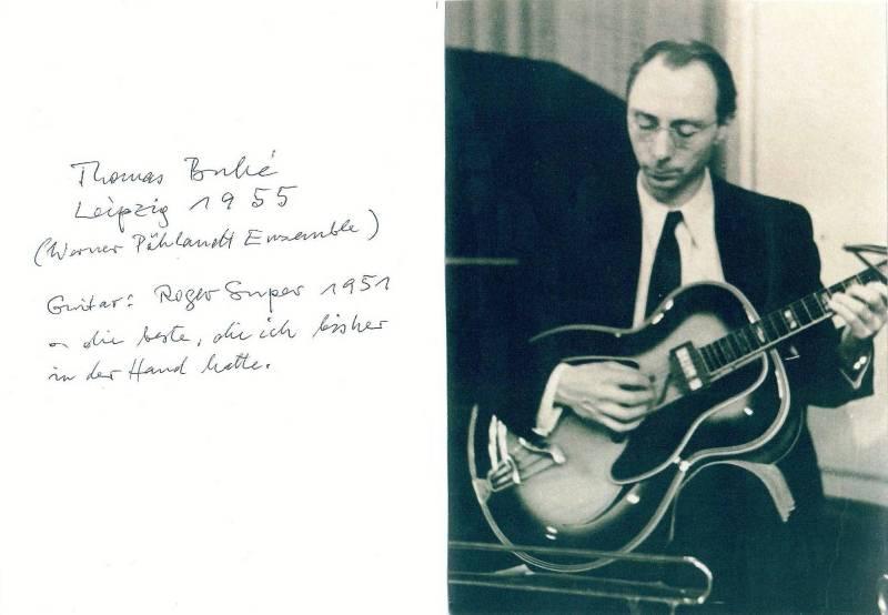 Bild 055 / 1955 / Thomas Buhe mit seiner ROGER SUPER von 1951
