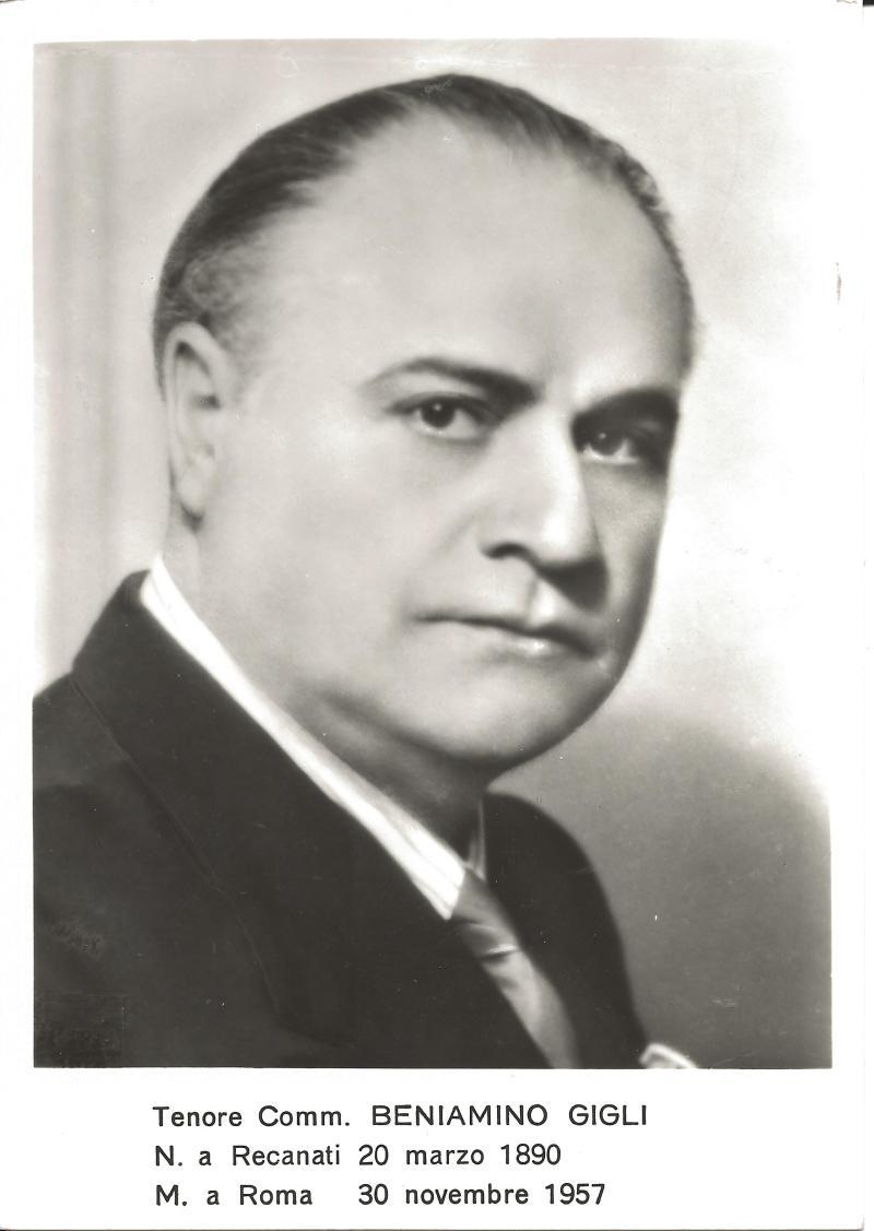 Bild 061 / 1957 / Foto zum Gedenken an Beniamino Gigli
