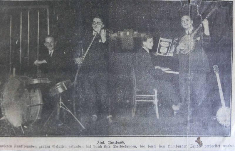 ca1921Italienische Jazzband im Hamburger Rundfunk - WR am Banjo