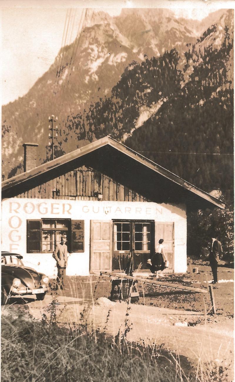 26.07.58Postkarte von der Werkstatt in Mittenwald, mit Bestellung eines Kunden
