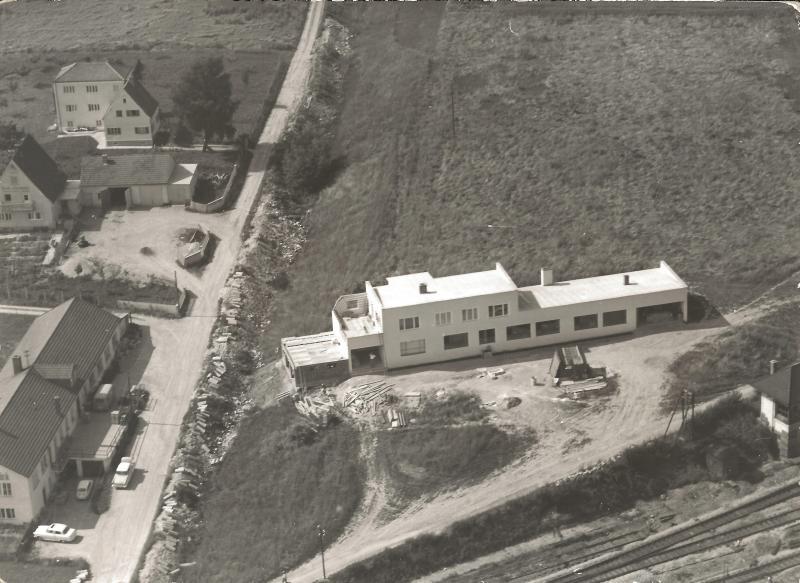 1959Fabrikgebäude in Neumarkt St. Veit, Werkstr. 2 kurz vor der Fertigstelluung