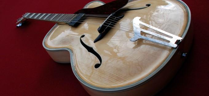 Restauration einer vogtländischen Gitarre im ROGER Stil