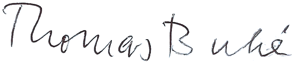 Thomas Buhe unterschrift