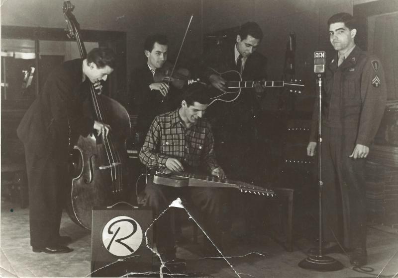 1948WR-Band im Studio beim AFN in Berlin