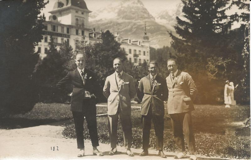 1924Bandmitglieder Kamsirossoff in der Schweiz - Wenzel zweiter von links