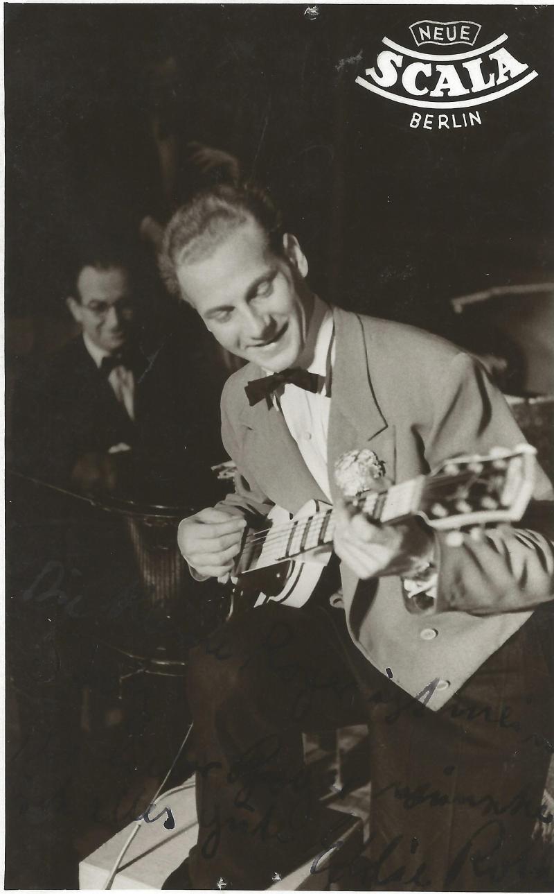 Bild 025 / ca. 1930 / Musikerkollege von WR - Werbeplakat der neuen Scala Berlin