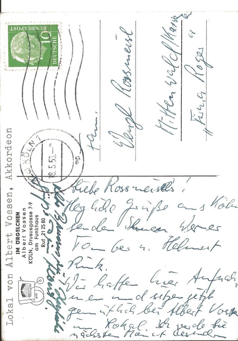 Bild 068 / 18.05.59 / Postkarte von Albert Vossen, Musikerkollege von den Rhythm Boys