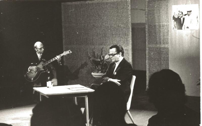 Bild 075 / 1973 / G. Gütschow u.T. Buhe + ROGER SUPER CA- Ehrung Pablo Neruda, Kellertheater Leipzig